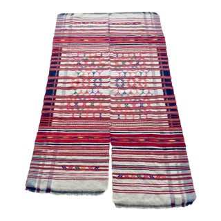 Handwoven Red Woven Textile For Sale