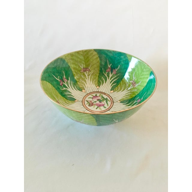 Vintage Chinoiserie Bowl Made for Lord and Taylor For Sale - Image 9 of 9