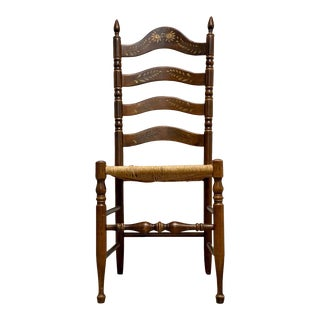 Antique Louis Phillippe Hand Painted Chair For Sale