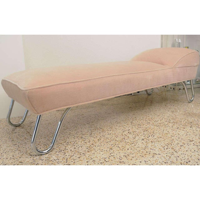 1920s KEM Weber Chrome & Mohair Chaise/Daybed - Image 4 of 9