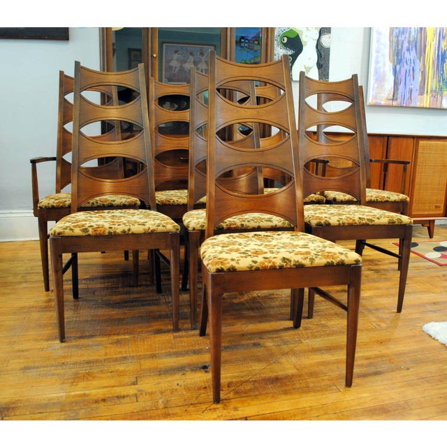 Kent Coffey Mid-Century Perspecta Dining Chairs - Set of 8 - Image 4 of 11