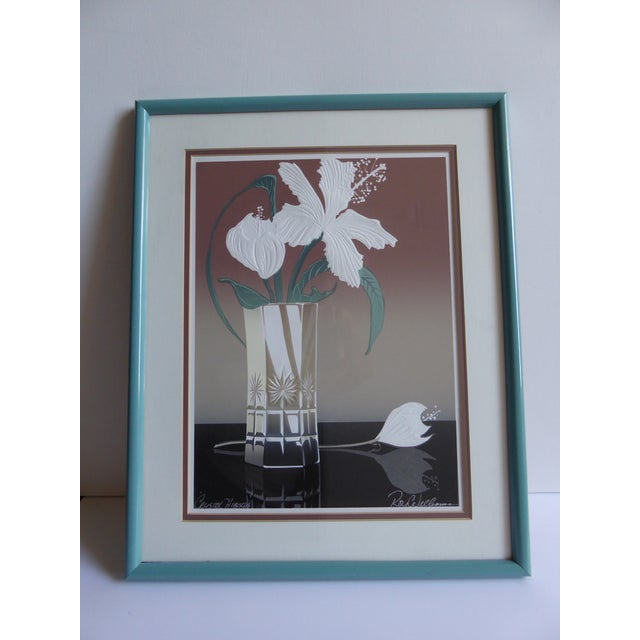 Crystal Hibiscus Embossed Serigraph by Roy Williams - Image 2 of 6