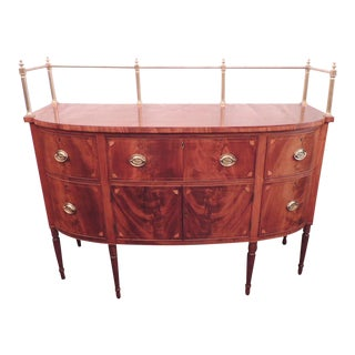 Early 19th C Virginia Sheraton Mahogany Sideboard with Gallery For Sale