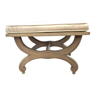 Modern Wooden Hollywood Regency Style Bench For Sale