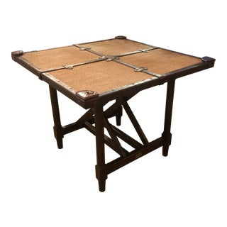 "1990s British Colonial Bauer's Stiles Brother Collection ""Serengeti"" Game / Dining Table For Sale"