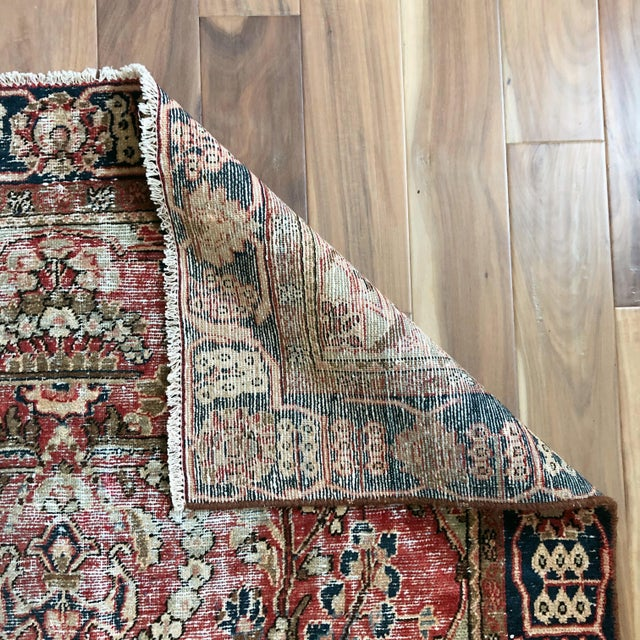 Middle Eastern 1930s Hand Knotted Wool Rug For Sale - Image 10 of 10