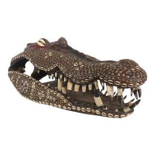 Giant Iatmul People Crocodile Skull from Middle Sepik Region, Papua New Guinea For Sale