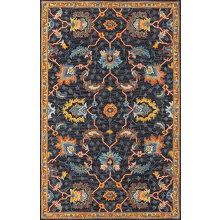 Ibiza Charcoal Hand Tufted Area Rug 6' X 9' For Sale