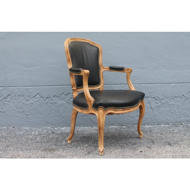 Traditional 1960s Vintage Louis XV Style Carved Walnut Armchair For Sale - Image 3 of 9