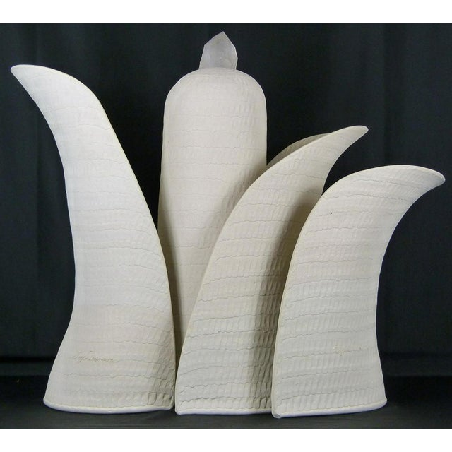 Ceramic Contemporary Guy Dawson Blooming 4 Piece Sculpture For Sale - Image 7 of 7