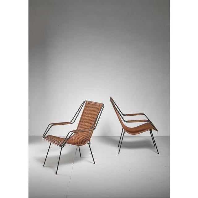 Carlo Hauner and Martin Eisler Pair of Lounge Chairs, Brazil For Sale - Image 6 of 6