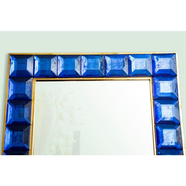 Contemporary Blue Diamond Murano Glass Mirror For Sale In Miami - Image 6 of 8
