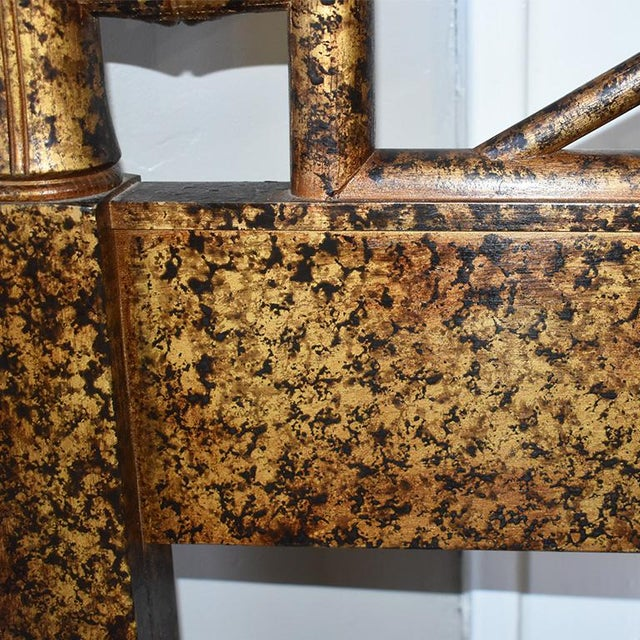 1970s Hollywood Regency Two Faux Bamboo Twin Bed Headboard Set and Mirror in Tortoise Shell by Henredon - 3 Pieces For Sale - Image 5 of 8