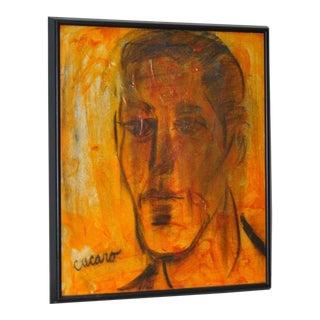 Pascal Cucaro Oil Portrait Painting For Sale