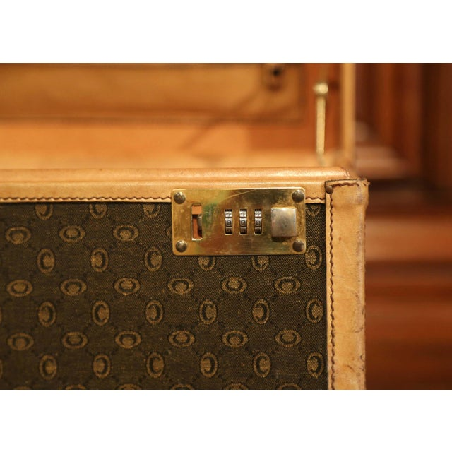 19th Century French Leather Toiletry Box With Decorative Trim and Brass Hardware For Sale - Image 9 of 13