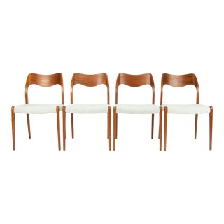 Niels Moller Model 71 Teak Dining Chairs - Set of 4