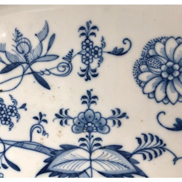 1900 - 1909 Antique Ernst Teichert Meissen Blue Onion Serving Platter For Sale - Image 5 of 10
