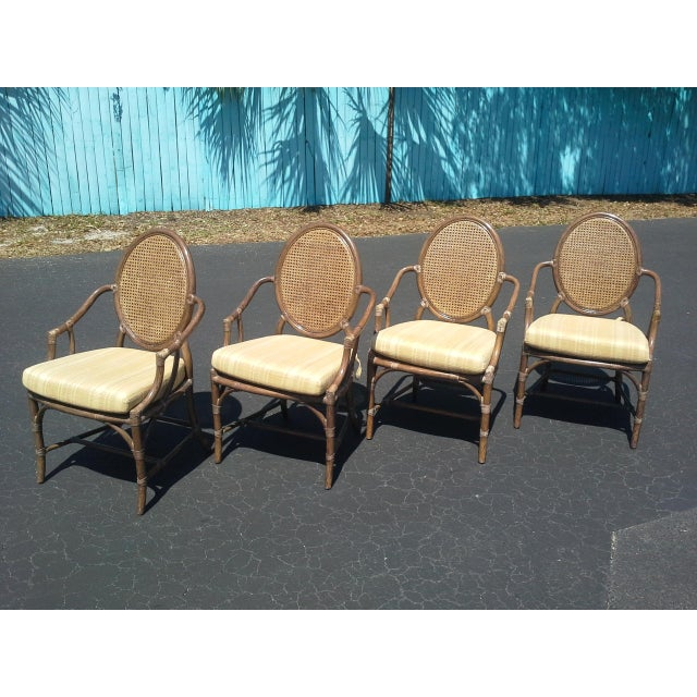 McGuire Louis XVI Cane Seat Chairs - Set of 4 For Sale In Tampa - Image 6 of 9