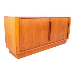 1960s Mid Century Bernhardt Pederson Teak Tambour Door Sideboard For Sale