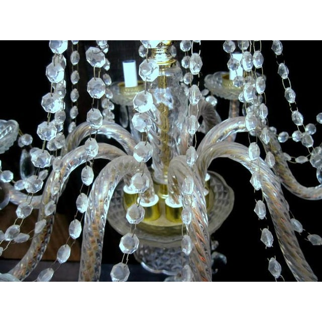 Crystal Waterfall Chandelier For Sale - Image 4 of 8