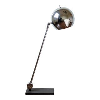 Mid-Century Chromed Sonneman Orb Table Lamp For Sale