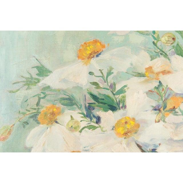 "Mary Purdum ""Big White Flowers"" Painting - Image 5 of 10"