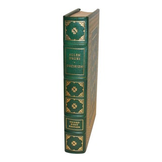 1983 First Edition Decision by Allen Drury, Franklin Library Leather Bound Deluxe Edition For Sale
