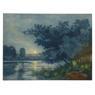 French Aquatint - Sunset Lake For Sale