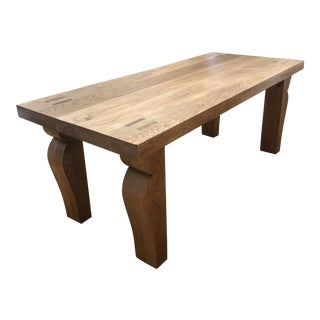 English Oak Dining Table For Sale