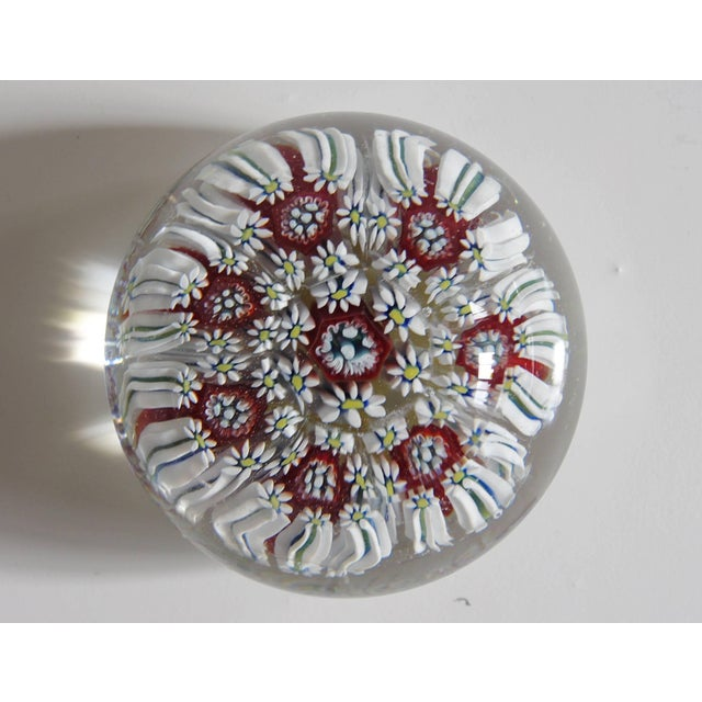 Mid 20th Century Collection of Eight Italian Murano Glass Millefiori Paperweights For Sale - Image 5 of 11