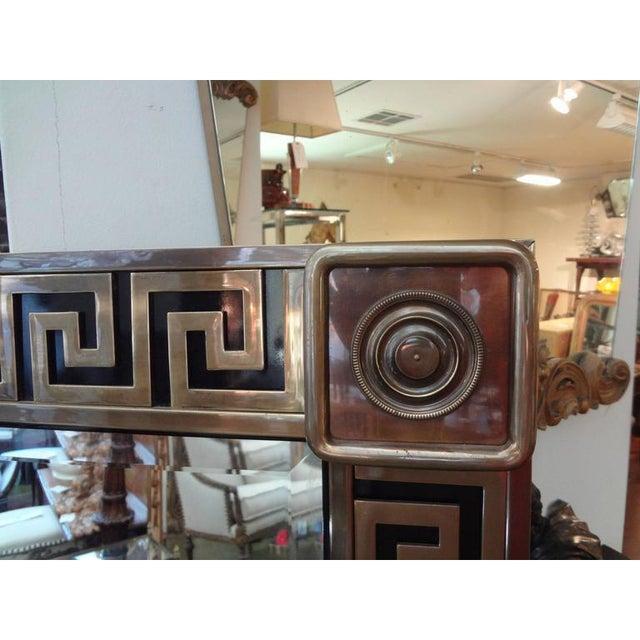 1970s Mastercraft Brass Greek Key Beveled Mirror For Sale - Image 5 of 8