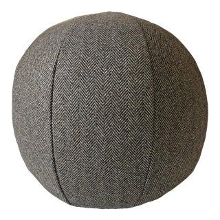 Super 120s Wool Herringbone Ball Pillow For Sale