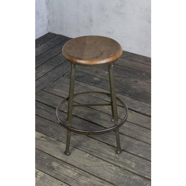 American 1930s Factory Stool - Image 2 of 8