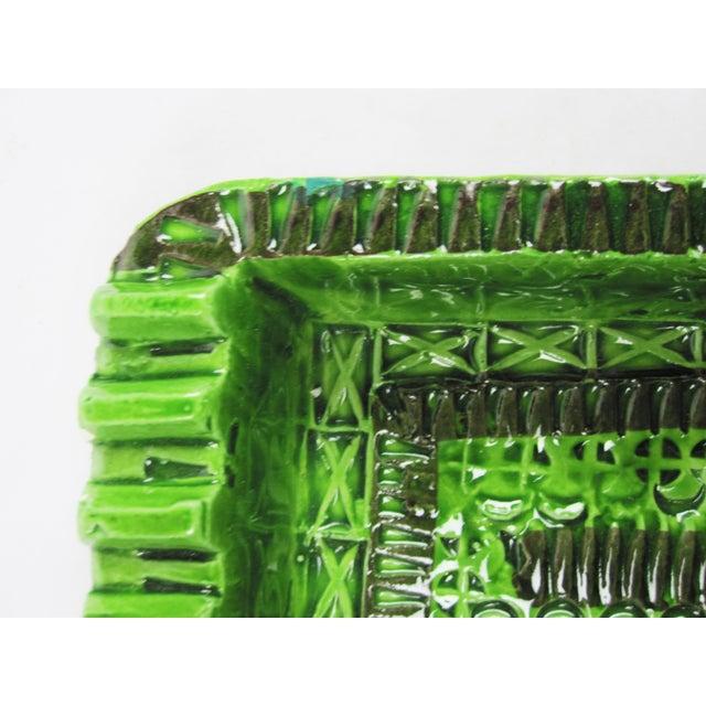 Signed Green Bitossi Soap Dish Ashtray - Image 4 of 4