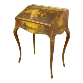 19th Century Louis XIV Painted Wooden Writing Desk