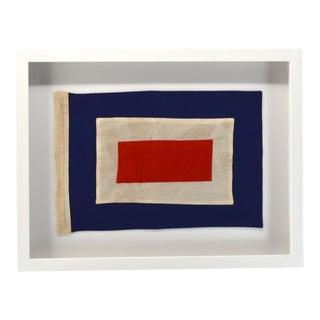 """W"" Nautical Signal Flag, Framed For Sale"