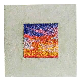 "Modern ""Sunrise"" Venetian Smalti Micromosaic Picture For Sale"