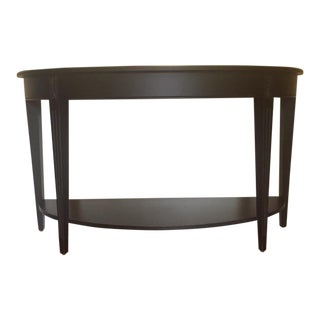 Traditional Ethan Allen Barrow Black Maple Sofa Table For Sale
