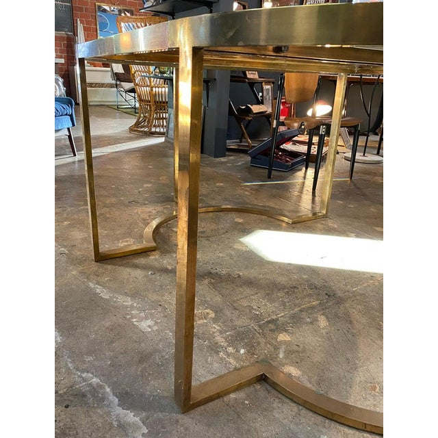 Metal 1970 Romeo Rega Brass Oval or Round Dining Table For Sale - Image 7 of 9
