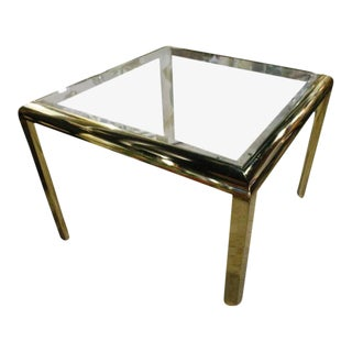 Vintage Design Institute of America DIA Brass Dining Table Game Table For Sale