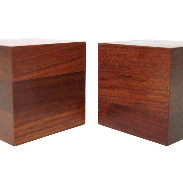 Wood Walnut Martz Bookends For Sale - Image 7 of 11