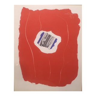 "Robert Motherwell ""Tricolor From XXieme Siecle"" 1973 Lithograph For Sale"
