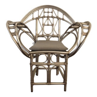 McGuire Butterfly Side Chair For Sale