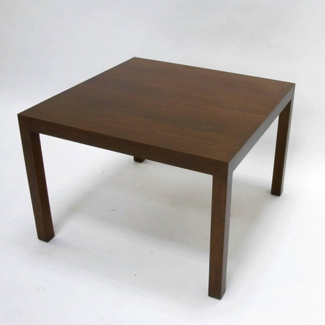 Dunbar Furniture Pair ofScale Edward Wormley for Dunbar Parsons Tables in Dark Mahogany For Sale - Image 4 of 5