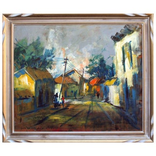 """Louis Valenzuela """"Nighttime Streets"""" Painting For Sale"""