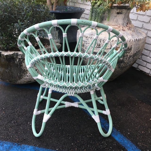 Indonesian Rattan Chair With Synthetic Rope - Image 6 of 6