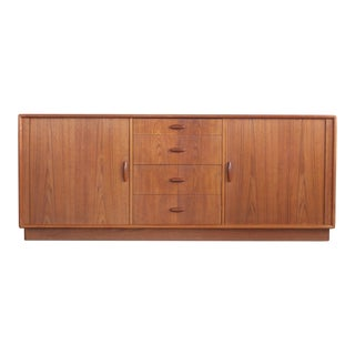 1950s Mid-Century Modern Dyrlund Credenza With Tambour Doors For Sale