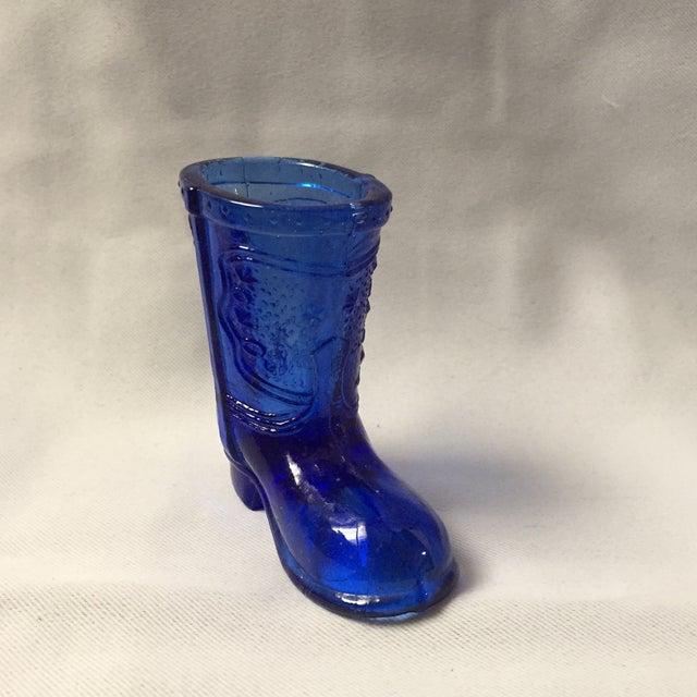 Cobalt Blue Cowboy Boot Shot Glass Chairish