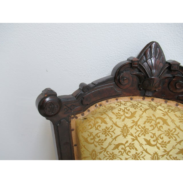 Late 19th Century Antique Victorian Eastlake Carved Dining Room Side Desk Chair For Sale - Image 5 of 13