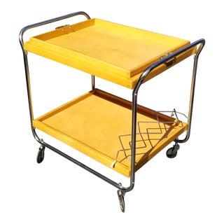 European Mid-Century Bar Cart For Sale